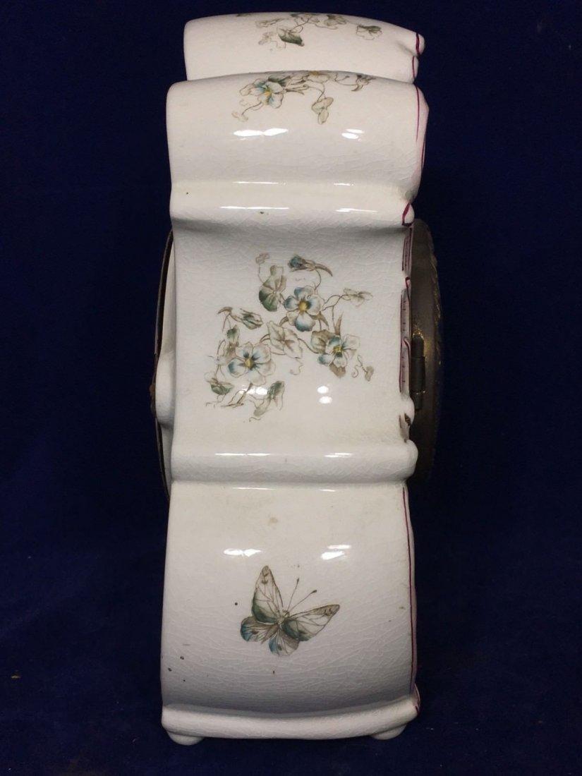 Porcelain Mantle Oakley Clock Seth Thomas - 6