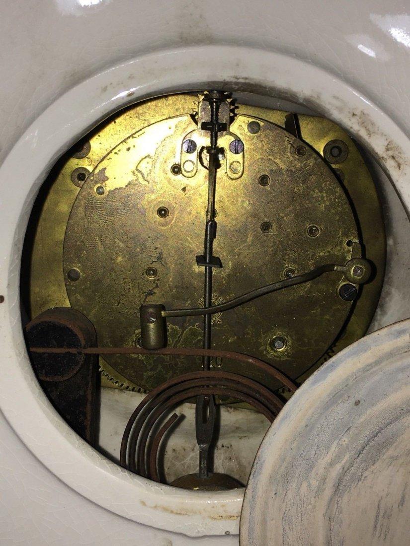 Porcelain Mantle Oakley Clock Seth Thomas - 8