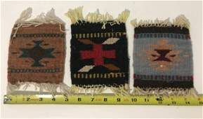 Set of three miniature Indian American Rags