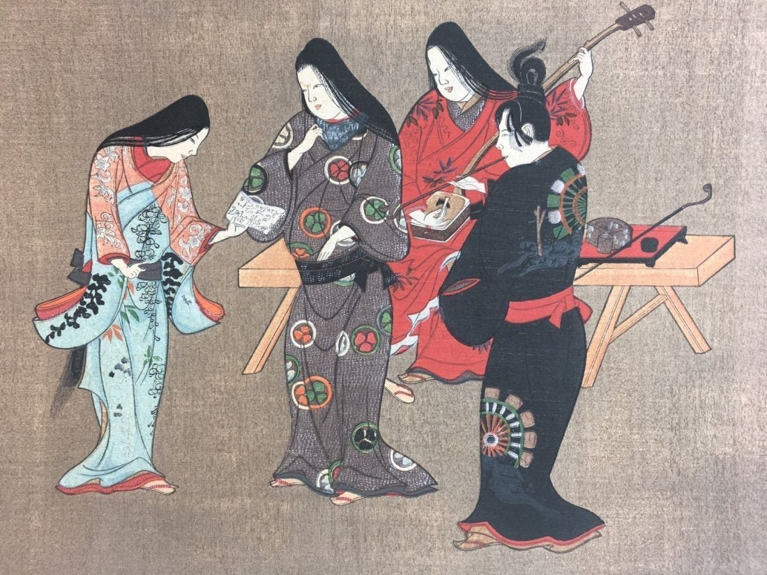 "Vintage Japanese Woodblock #1 15""x11"""