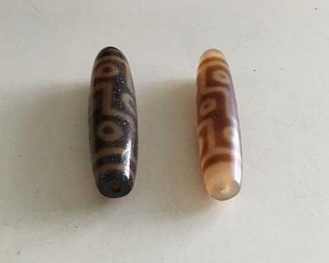 Two Old Tibetan celestial Beads ( Tian Zhu ) - 3