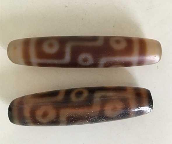 Two Old Tibetan celestial Beads ( Tian Zhu ) - 5