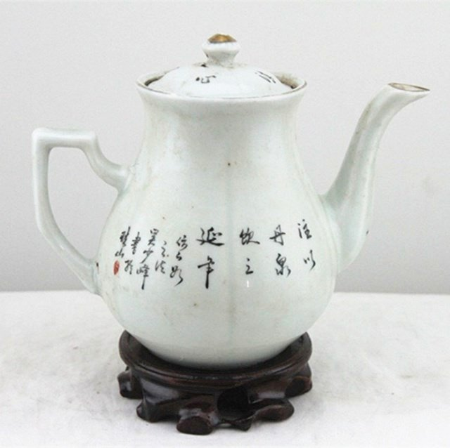 Fine Old Chinese Famille Rose Porcelain Teapot - 3