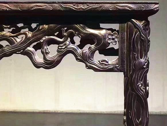 Fine Old Chinese Zitan Wood Carved Console Table - 4