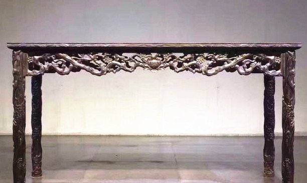 Fine Old Chinese Zitan Wood Carved Console Table - 5