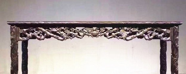 Fine Old Chinese Zitan Wood Carved Console Table - 6
