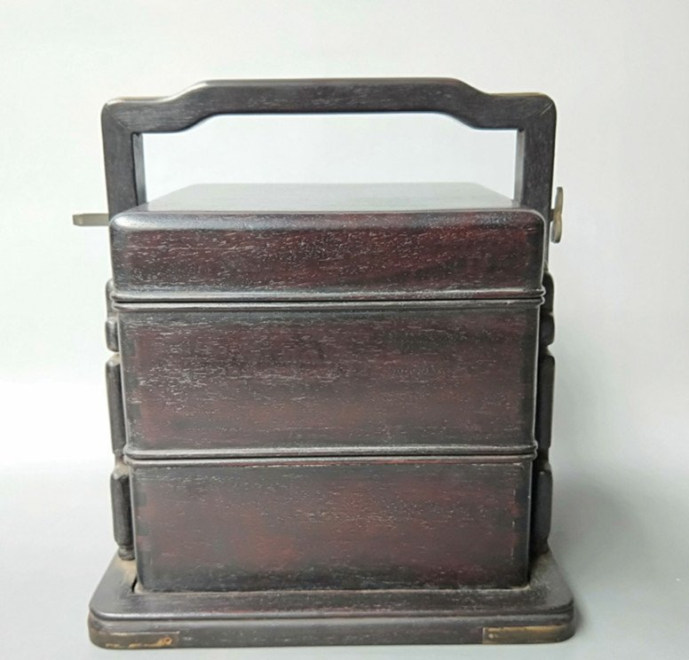 Fine Old Chinese Rosewood Food Container
