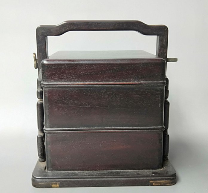 Fine Old Chinese Rosewood Food Container - 3