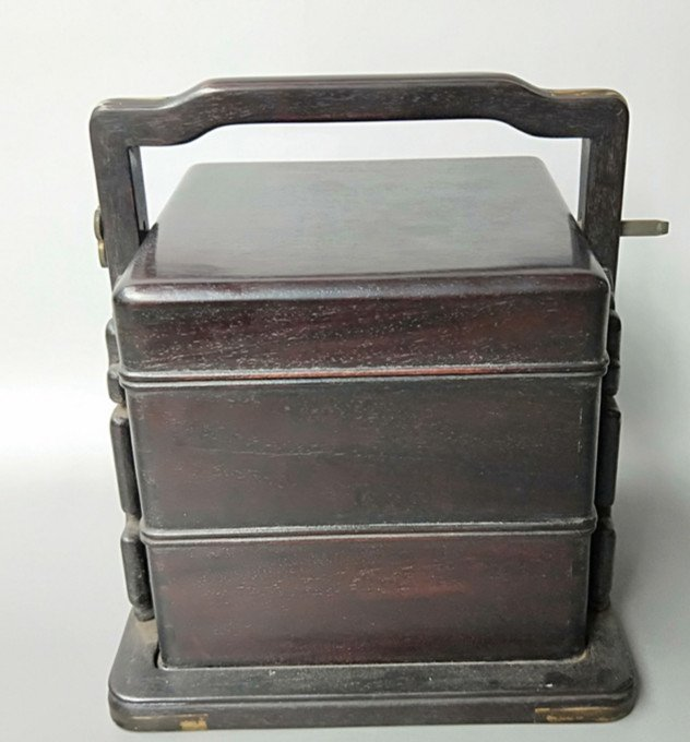 Fine Old Chinese Rosewood Food Container - 5