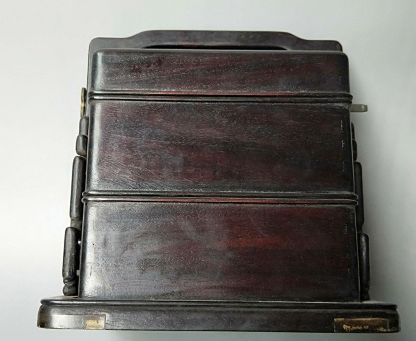 Fine Old Chinese Rosewood Food Container - 7