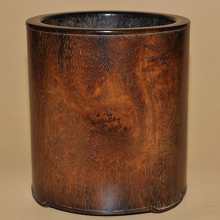 Fine Old Chinese Huanghuali Wood Brush Pot