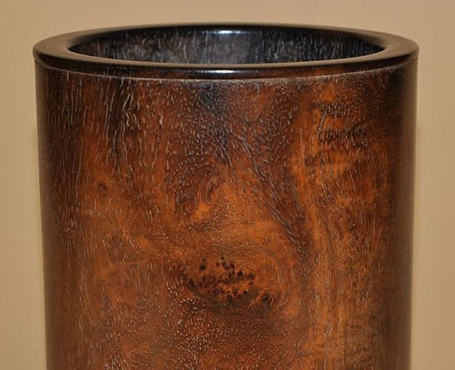 Fine Old Chinese Huanghuali Wood Brush Pot - 2