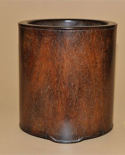 Fine Old Chinese Huanghuali Wood Brush Pot - 3