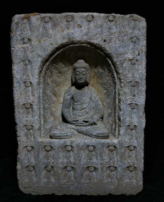 Antique Chinese Stone Carved Buddha Niches