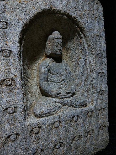 Antique Chinese Stone Carved Buddha Niches - 3