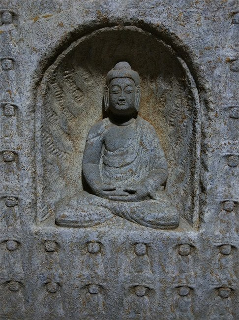 Antique Chinese Stone Carved Buddha Niches - 4