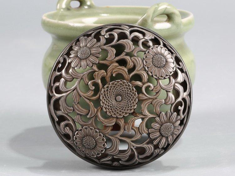 Fine Old Chinese Longquan Kiln Incense Burner - 5