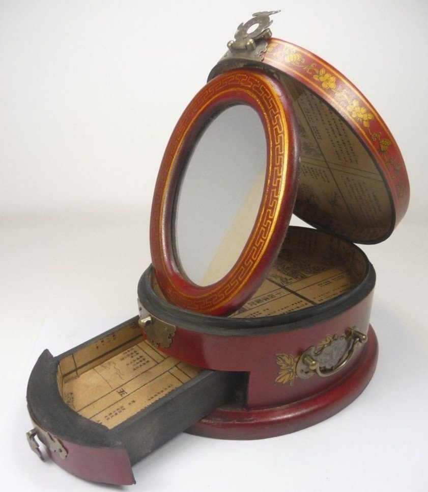 Fine Old Chinese Lacquered Hardwood Cosmetic Box