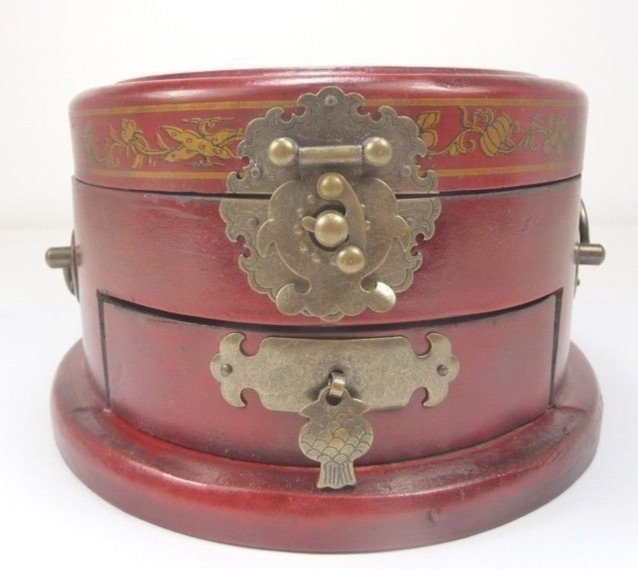 Fine Old Chinese Lacquered Hardwood Cosmetic Box - 2