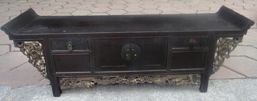 Fine Old Chinese Nanmu Wood Console Table