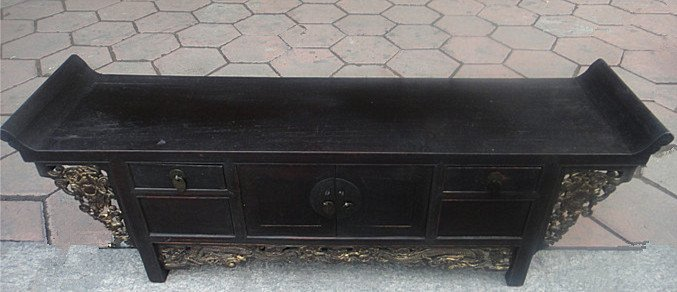 Fine Old Chinese Nanmu Wood Console Table - 2