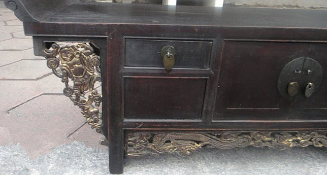 Fine Old Chinese Nanmu Wood Console Table - 3