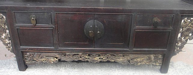 Fine Old Chinese Nanmu Wood Console Table - 5