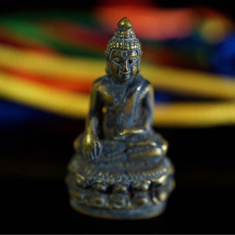 Antique Tibetan Celestial  Bronze Buddha Statue