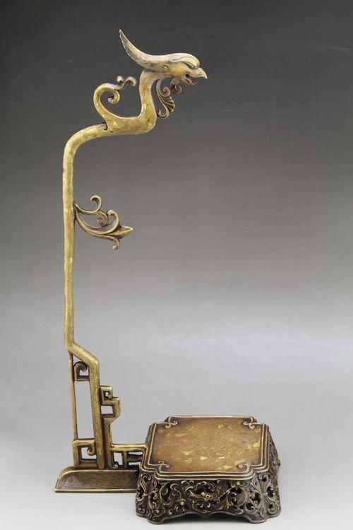 Vintage Chinese  Scholar Bronze Brush Holder