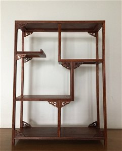 Old Chinese Hainan Huanghuali Wood Curio Shelf