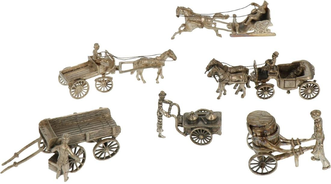 (6) Miniatures silver.