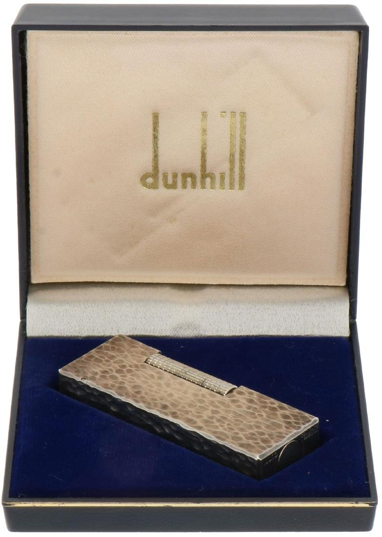 Dunhill lighter silver plated.