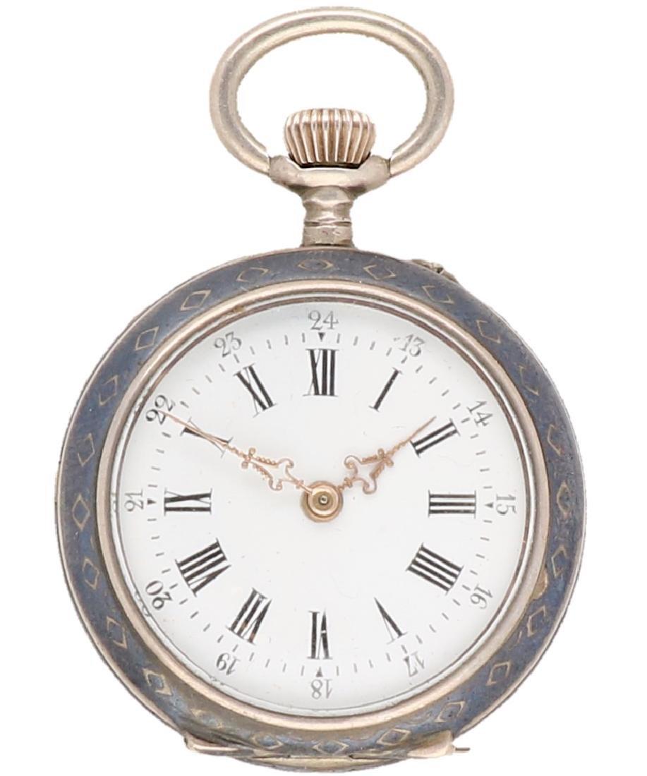 Niello - Ladies pocket watch - Manual winding.