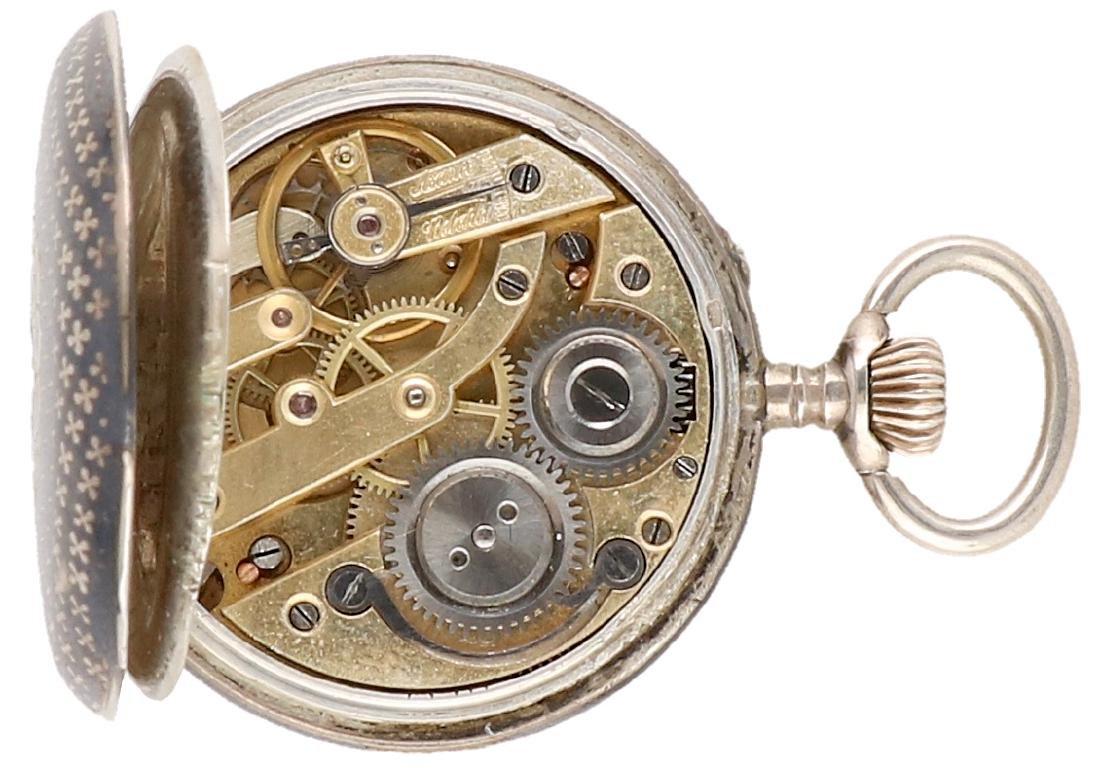 Niello - Ladies pocket watch - Manual winding. - 3