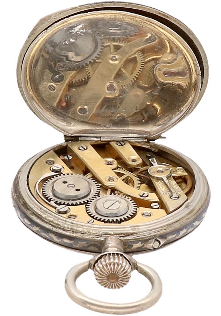 Niello - Ladies pocket watch - Manual winding. - 4