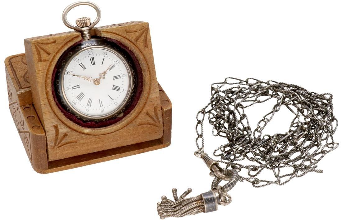 Niello - Ladies pocket watch - Manual winding. - 6