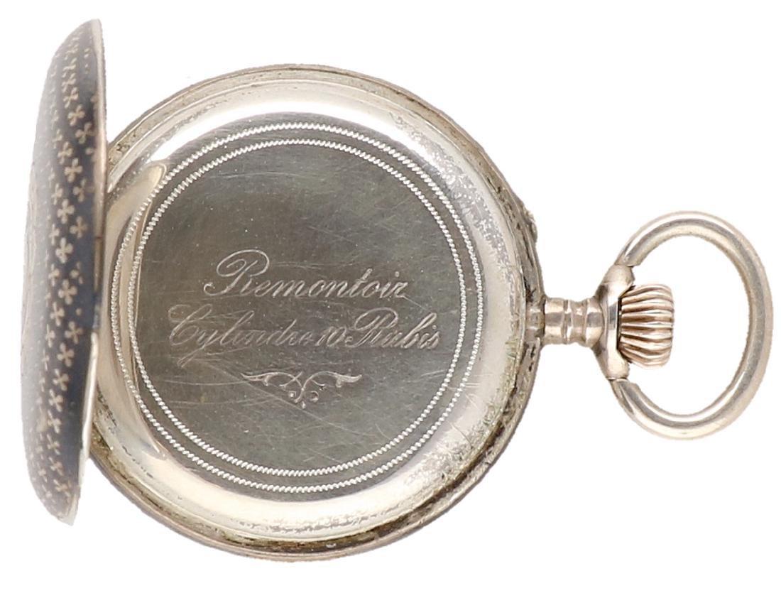 Niello - Ladies pocket watch - Manual winding. - 7