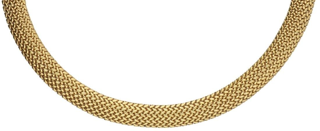 Tiffany & Co. Somerset Mesh necklace yellow gold - 18