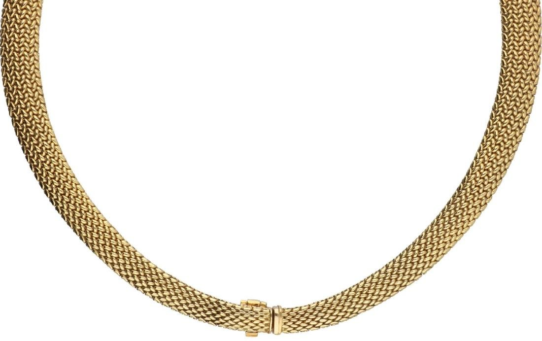 Tiffany & Co. Somerset Mesh necklace yellow gold - 18 - 2
