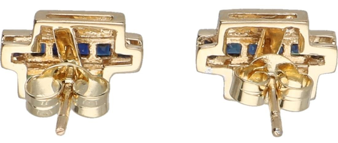 Ear studs yellow gold, with approx. 0.03 ct. diamond, - 2