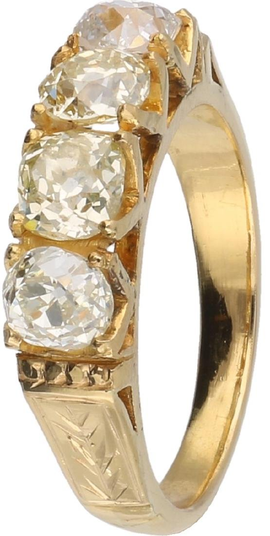 Ring yellow gold, with approx. 2.4 ct. diamond - 18 ct.