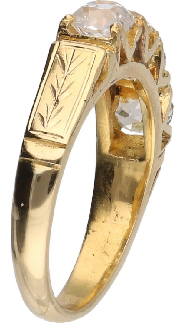 Ring yellow gold, with approx. 2.4 ct. diamond - 18 ct. - 2