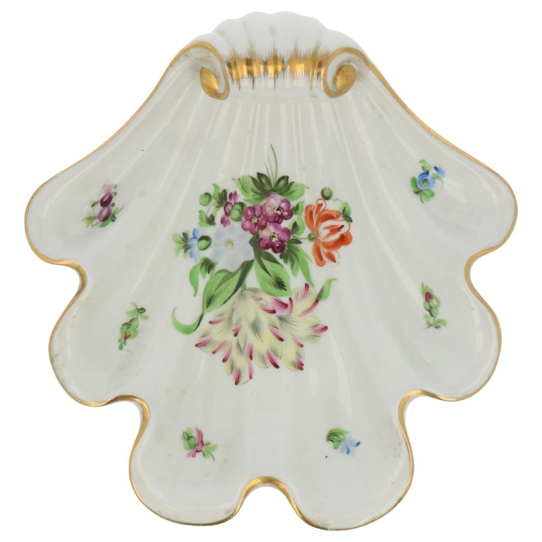Herend porcelain shell plate.
