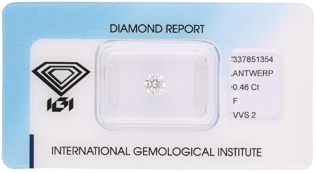 IGI round brilliant cut diamond 0.46 ct.