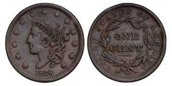 United States America. Cent 1838
