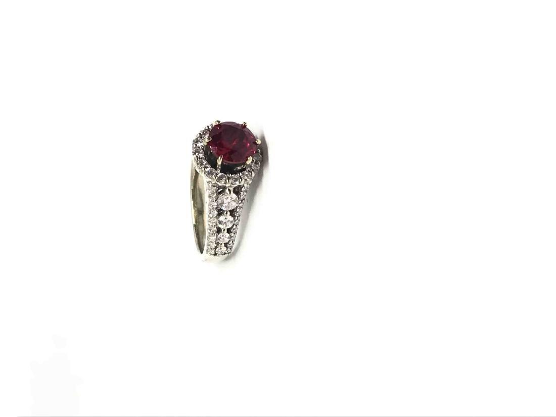 14k Diamond Ring White Gold - 2