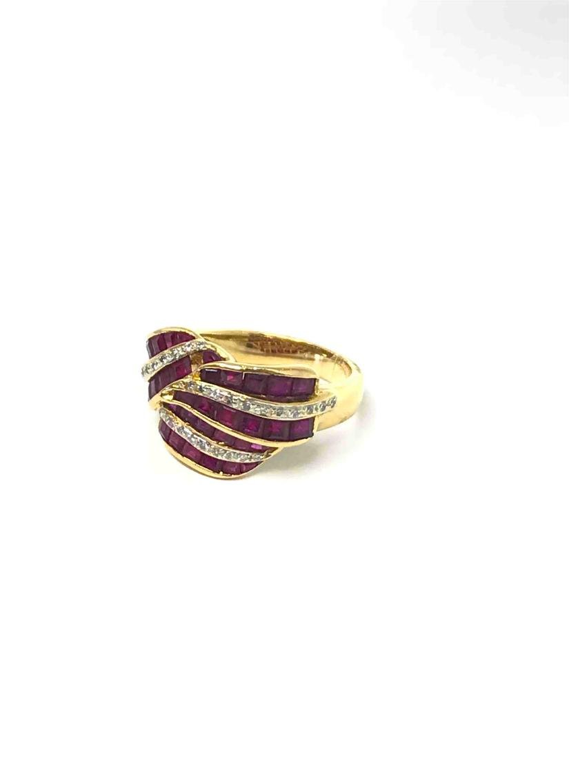 18k Ruby Ring/ Diamonds. - 2