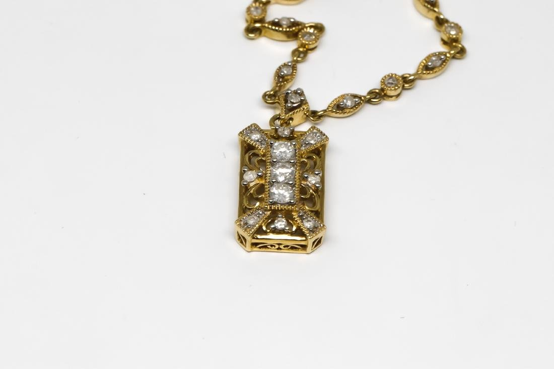 14k Vintage design diamond necklace