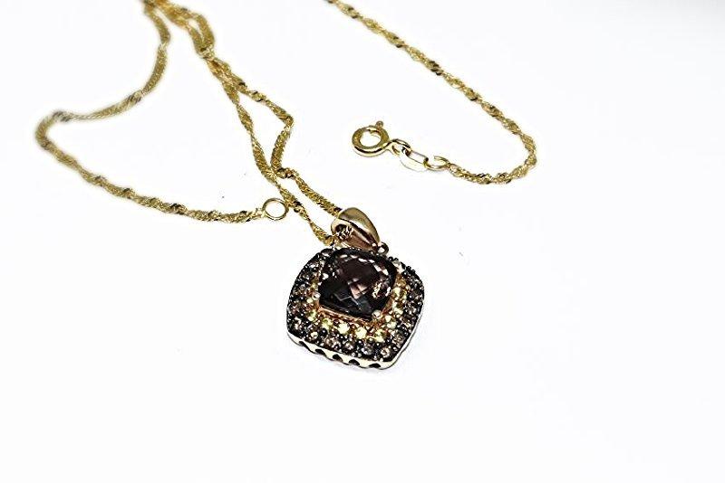 14k diamond necklace with pendant