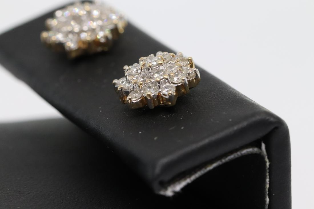 14k Diamond Earrings - 2